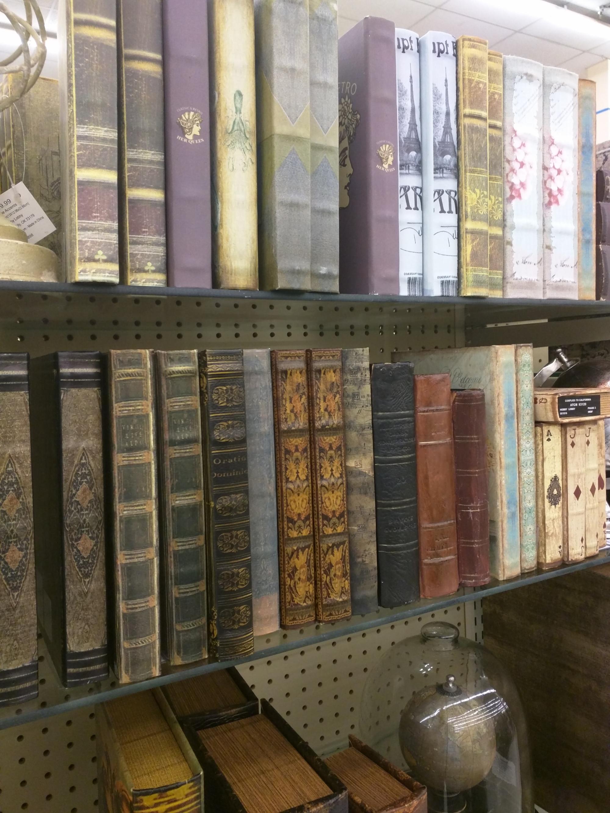 Fake Books at Hobby Lobby