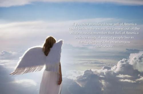 meme of angel on cloud